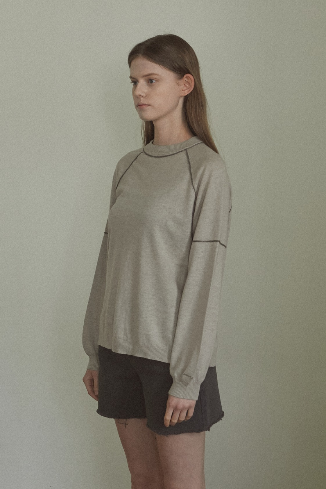 Collaboration Band linen top_Sand Beige