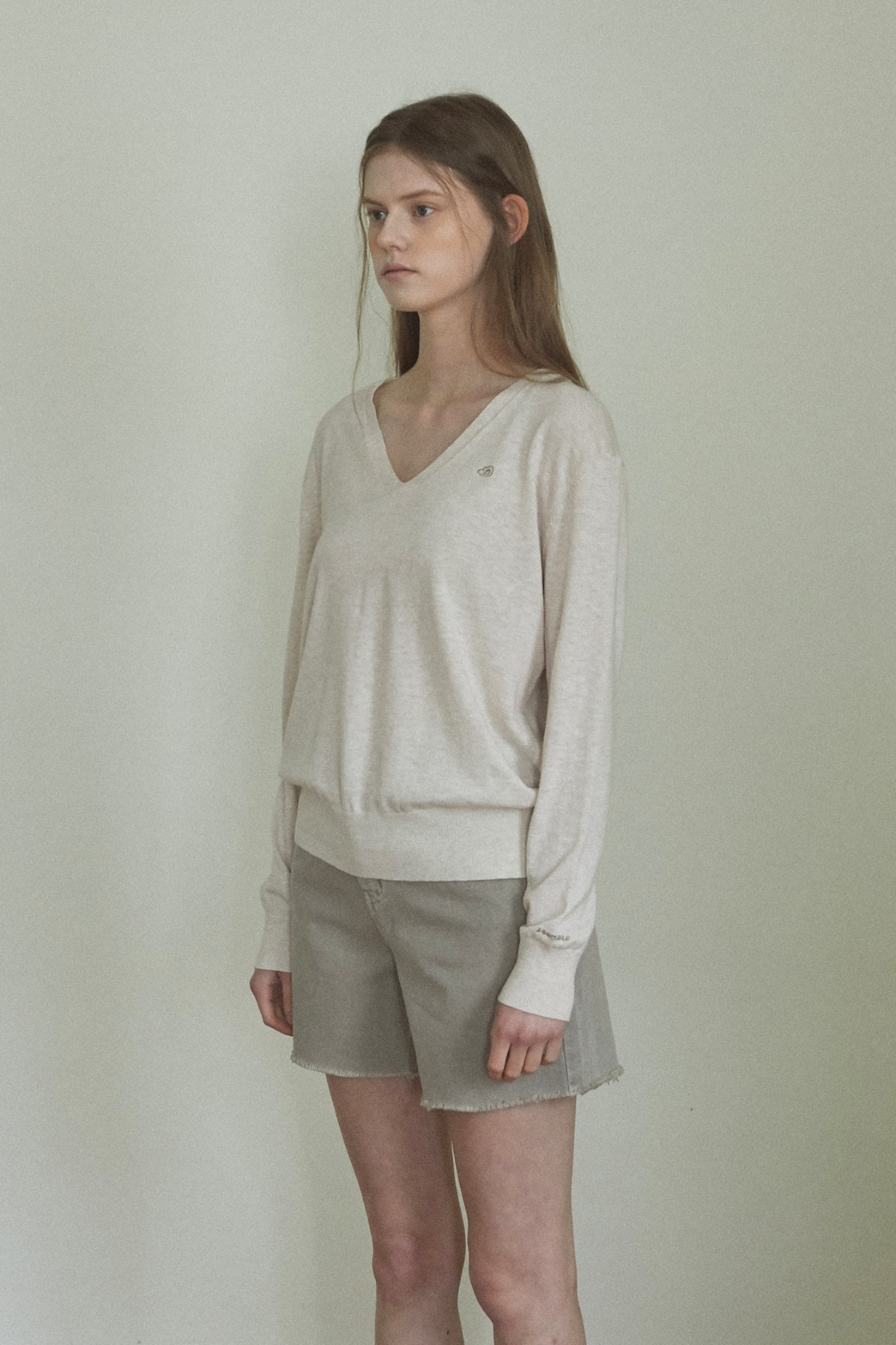 Fragrant magnolia linen top_Cream