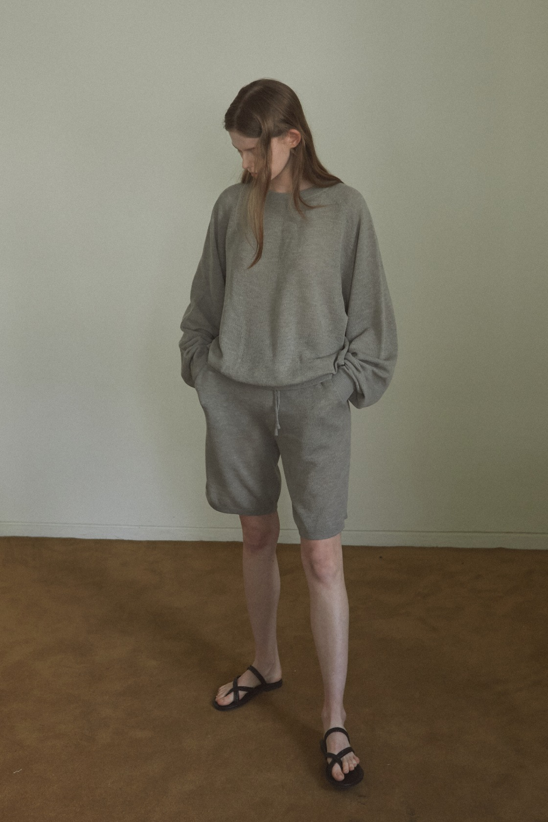 Cozy bell short pant_Natural Khaki