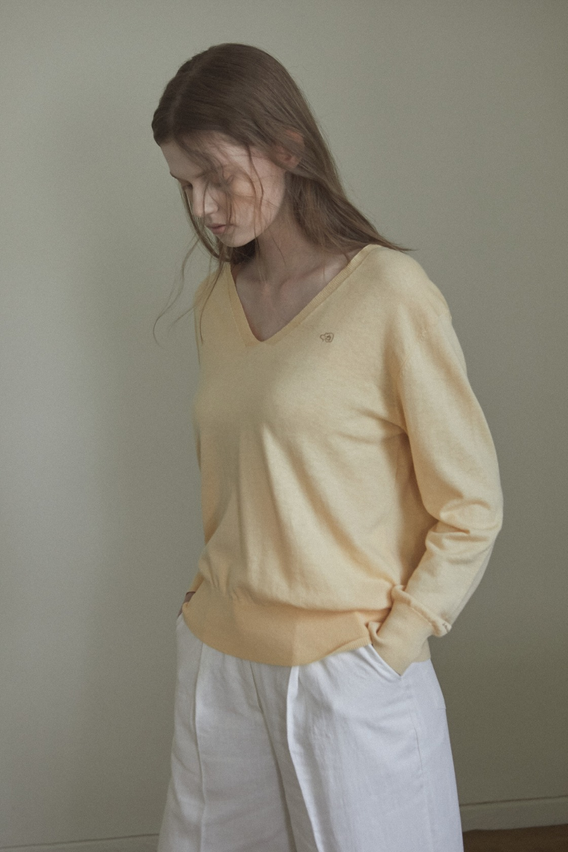 Fragrant magnolia linen top_Honey Yellow